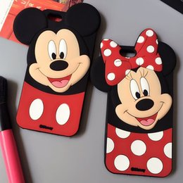 Wholesale Iphone Cover Lover Cartoon - for iPhone 7 Plus 6 6S Plus 5S Cute Cartoon 3D Mickey Minnie Lover Case silicon Mouse Soft Silicone Back Cover Shell