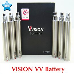 Wholesale E Cig Ego Vv - 510 Vape Pen Vision Spinner 1 + eGo USB Charger Variable Voltage VV battery eGo Twist E Cig Battery 1300 1100 900 650 mAh Vapor