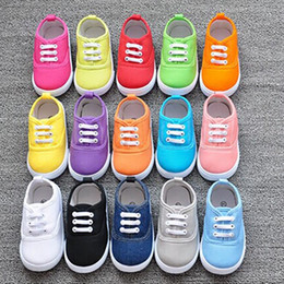 Wholesale First Athletic Shoes - Baby Candy Canvas Casual Shoes Kids Infant Boys Girls First Walker Children Ailvyang Soft Sole Sport Sneakers Athletic Prewalker Shoe PX-S30