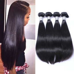 Wholesale Cheap Remy Bundles - Brazilian Straight Virgin Human Hair Weave Bundles Unprocessed Peruvian Indian Malaysian Cambodian Mongolian Cheap Remy Hair Extensions Weft