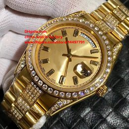 Wholesale Yellow Sapphire Bracelet - 6 Style Luxury High Quality Asia 2813 Movement 41mm President Diamond Bracelet 18k Yellow Gold Mechanical Automatic Mens Watch Watches