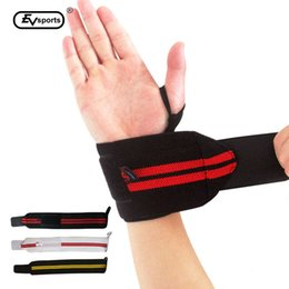 Wholesale basketball elbow bands - Wholesale- New Sport Safety Elbow Wrist Support Wrist Wraps Crossfit Fitness Basketball Wrist Band Body Building fast shipping