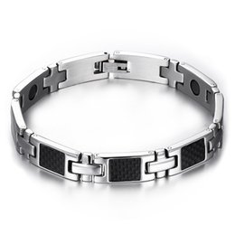 Wholesale Magnetic Health Care Steel Jewelry - health care carbon fiber hand bracelets bangles men magnetic bracelets&bangles for men jewelry SBRM-057