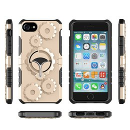 Wholesale Mechanical Arm - Mechanical Gear TPU+PC hybrid Case Arm Band Stent Armband Stand Holder Cover Armor Case For iPhone X 7 6 6s 5 5s Plus Samsung s8 Note 8