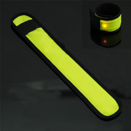 Wholesale Safety Lights Led Armband - Wholesale- 1pcs Novelty 1*CR2032 Button Cell LED Light Flashing Nylon Wrist Strap Band Armband Hairband for Safety Sport for outdoor sport