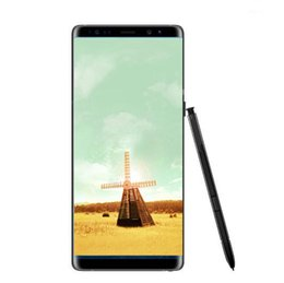 Wholesale Email Cellphone - Goophone note8 fingerprint note 8 6.3inch Cellphone MTK6580 Quad Core 1G 8GB 1280*720 Show 64G rom fake 4g lte unlocked smartphone