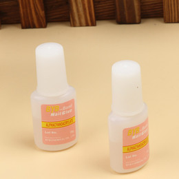 Wholesale Wholesale Glitter Glue - Wholesale- Drop Shipping New Nail Art Glue Tips Glitter Uv Acrylic Rhinestones Decoration With Brush Beauty Nail Glue Nail Tools