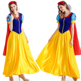 Wholesale United States Uniforms - Bead close love snow white game uniform small red hat suit Halloween stage costume Cosplay dress fashion new Europe and the United States