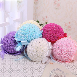 Wholesale Simple Touch - Wedding Decoration Sale Belenes Navidad Korea Style Elegant Bridesmaid Bouquet Silky Touch Hand Flower Bridal Bouquets Simple And Throwing