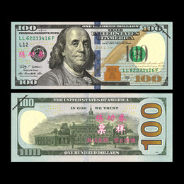 Wholesale Money Plays - 100PCS USA New Dollars $100 Banknotes Bank Staff Training Paper Play Money Currency Money Children Gift Poker Game Chips Movie Props Money