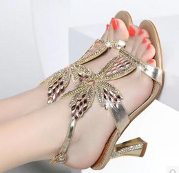 Wholesale New Designs Ladies Sandals - New Design Ladies Sexy Stilettos High Heels Women Shoes Pumps Faux Rhinestone Wedding Party Sandals Silver Gold