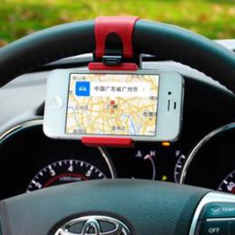soporte montado en el volante del teléfono celular Rebajas producto promocional Universal Car Streeling Steering Wheel Cradle Holder SMART Clip Car Bike Mount para Mobile iphone samsung Teléfono celular GPS