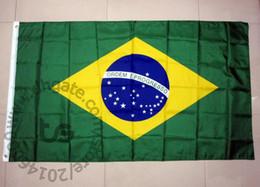 Wholesale brazil brazilian - Brazil   Brazilian national flag Free shipping 3x5 FT  90*150cm Hanging National flag Home Decoration flag banner