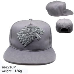 Wholesale 3d Hat Letters - Game of Thrones Cosplay Hat House Targaryen Adult baseball cap 3D embroidery Anime Luigi adjustable Buckle Christmas cartoon 2017 wholesale