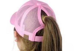 Wholesale Girls Grey Hat - 2017 Hot Sell Women ponytail baseball hat Fashion Girl Softball hats back hole Pony Tail Drop Shipping Cheap Sun hat