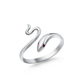 Wholesale Adjustable Snake Rings - Women New Arrival 925 Sterling Silver Snake Rings Fashion Open Adjustable Finger Ring Jewelry