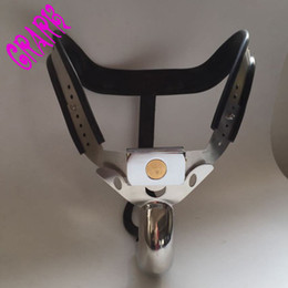 Wholesale Strap Device For Sex - Most comfortable curved strap on pants male chastity belt device,stainless steel Fetish,cock cage Sex toys for men penis lock
