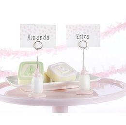 Porta-jóias bonito on-line-Os suporte para garrafa bonito de alimentação em forma de lugar cartão do bebê lua cheia fontes do partido presente New arrivel