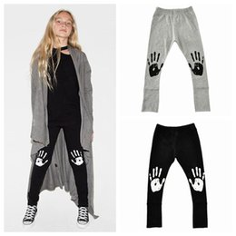 Wholesale Kids Girls Grey Tights - 2017 spring summer baby leggings big girls cotton trousers pants childrens halloween leggings casual kids legging tight wholesale black grey