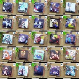 Wholesale Hatsune Miku Purse - Anime Black Butler, Hatsune Miku, Totoro, Conan, Sword Art Online, Death Note etc Short Frosted Coin Purse Horizontal Zipper Zero Wallet