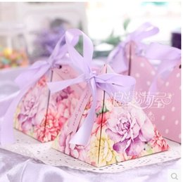 Wholesale Engagement Table - PASAYIONE Romantic Floral Candy Boxes For Wedding Engagement Decor Table Centerpieces Souvenirs For Guests Party Favors And Gift