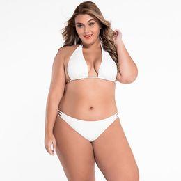 Wholesale Halter Strap Bikini - Europe and the United States new Halter straps sexy bikinis XL triangle split swimsuit