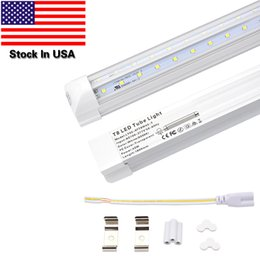 Wholesale Fluorescent Tube Lamp Ballast - LEDs Tube Light, 6FT 42W (90W Fluorescent Equivalent), Double Side V Shape Integrated Bulb Lamp, Works without T8 Ballast, Plug and Play