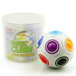 Wholesale Children Learning Toys Wholesale - Fun Creative Spherical Magic Cube Speed Rainbow Ball Football Puzzles Kids Educational Learning Toys for Children Adult Gifts