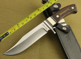 Wholesale Ebony Wood Knife - NEW Browning Full Tang Ebony Wood Bowie Hunting Knife H18
