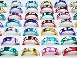 Wholesale Wholesale Aluminum Jewelry Rings - 200pcs Fashion Aluminum alloy Mix Color Rings Wholesale Jewelry Lots A-098