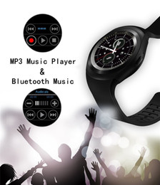 Wholesale Android Business - Y1 Round Bluetooth 3.0 Wearable Smart watch Men Women Classical Business Smartwatch for Android IOS Support SIM Card Touch Screen