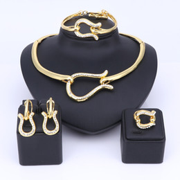 Wholesale Vintage Wedding Costume Jewelry - Vintage Gold Silver Color Crystal Bridal Jewelry Sets Italian For Women Girls Wedding Jewelry Sets Costume Accessories Gift
