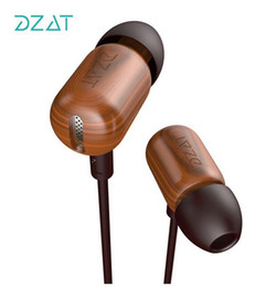 Wholesale Earphone Diy - 2016 New Original DZAT DF-10 In Ear Earphone Wood Earphone Bass HIFI Fever DIY Wooded Earphone With Mic Universal Free Shipping