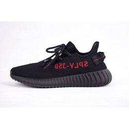 Wholesale Limited Run - Final Version SPLY-350 Black Red Stripe CP9652 Limited 350 Boost V2 Men Women Outdoor Shoes True Boost 350v2 Top Quality 350sply SIZE8.5