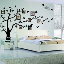 Wholesale Cartoons Photo Frame Design - 10pcs Diy Photo Frame Tree Wall Stickers TV Sofa Wall Stickers Home Decor Design Living Room Sofa Vintage Poster Art Decals Home Decorat