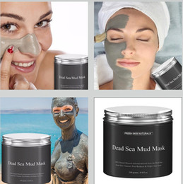 Wholesale Clear Mud - New Dead Sea Mud Mask Deep Cleaning Hydrating Acne Blemish Black Mask Clearing Lightening Moisturizer Nourishing Pore Face Cleaner DHL