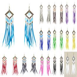 Wholesale Rhombus Beads - Feather Earrings 12 Colors wholesale lots Sheer Tear Bead Rhombus Chandelier Eardrop New (White Black Red Deep Pink Yellow Blue Teal)(JF210)