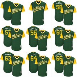 Wholesale Rock Smith - Mens Womens Youth 56 Chris Smith Rock n Fire Oakland Athletics Jersey Green 2017 Players Weekend Authentic Custom Baseball Jerseys S-3XL