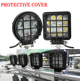 """Wholesale Offroad Round Light - 200PCS High Quality ABS Black Protective Cover Case Round Square FOR 4"""" 27W LED Driving Wok Light Offroad SUV ATV 4WD 4x4 Truck Tractor Ligh"""