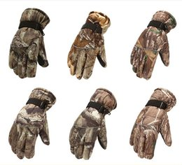 Wholesale Men Body Warmer - Durable Camouflage Gloves Winter Warmer Thick Glove For Men Boy Motor Outdoor Sports Cycling Hiking Driving (1 Pair)