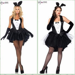 Wholesale Black Rabbit Tail - Fat tails bunny Fractal code black rabbit Containing white ball ball tail evening Hostess beer bar dress