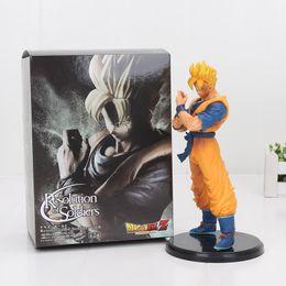 Wholesale Dragon Ball Z Goku Figure - 20cm Catoon Dragon Ball Z Super Saiyan Son Goku gohan Resolution Of Soldiers PVC Action Figure Toy Dragon Ball Z figures