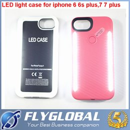 Wholesale Iphone Generation Cases - For iPhone 6 7 plus The third generation LED Light Case Light Up Your Face Back Cover With Retail Box top quality