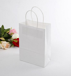 Wholesale Wholesale Plain Black Paper Bags - 2017 New Arrived Candy - colored bag kraft paper bag clothing bag gift wrapping and can be customized