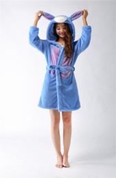 Wholesale Flannel Nightgowns Women - Wholesale- Women Winter Flannel Animal cartoon Donkey style Nightgown Robes Bathrobe home service pajamas sleepwear housecoat S-L