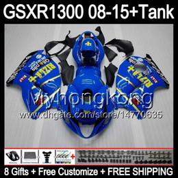 Kits de carenado rizla online-RIZLA azul 8gifts para SUZUKI Hayabusa GSXR1300 08 15 GSXR-1300 14MY22 GSXR 1300 GSX R1300 08 09 10 11 12 13 14 15 TOP RIZLA azul carenado Kit