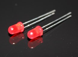 Wholesale Diffused Led Lens - Wholesale- 1000PCS 5mm Red Diffused Round Self Flash Flashing LED Blink Bright Leds Light 5mm red lens flashing led