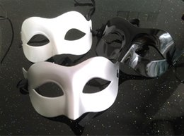 Wholesale wholesale venetian masks for men - Man Half Face Mask Many Colors Halloween Unisex Party Venetian Masquerade Decorations Mardi Gras Masks Hot Sell 0 9rh J
