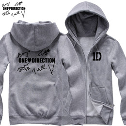 Wholesale One Direction Zayn - Wholesale-new 2017 free shipping I LOVE One Direction members' signature Niall Zayn Liam Harry Louis Handwriting man cardigan
