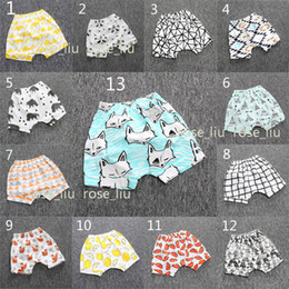 Wholesale Tent Girl - 13 Style kids INS pp pants fashion baby toddlers boy girl animal fox tent wheels figure pants shorts Leggings newborn clothes B